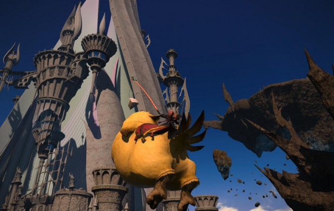 Final Fantasy XIV: Heavensward flying fat chocobos Preview